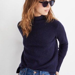 MADEWELL Navy Blue Inland Turtleneck Sweater M NWO